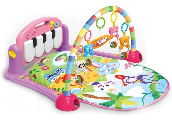 Tapete De Atividades Para Bebê Piano Musical Maxibaby - Rosa