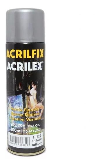 Verniz Spray Acrilex Acrilfix Brilhante 300ml