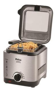Fritadeira Á Óleo Philco Elétrica 1,8 L Inox 900w 110v