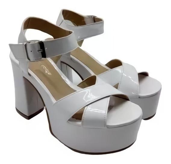 Sandalia Mujer Taco Ancho Plataforma Zapato Moda Savage Bk76