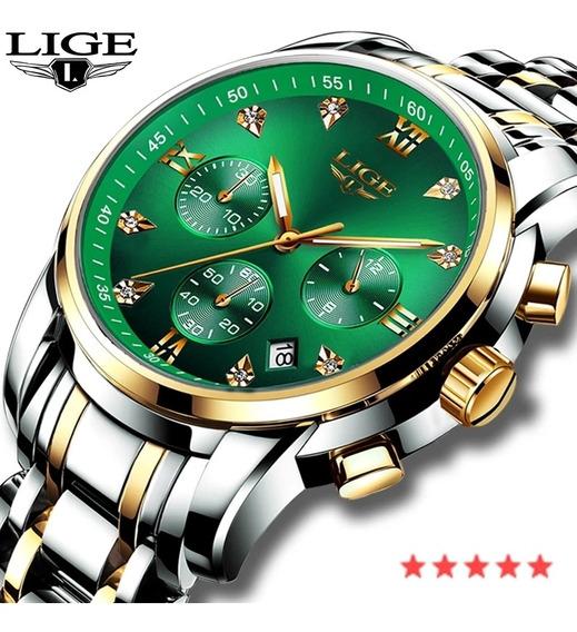 Relógio Lige Original Luxo Pronta Entrega C/caixa