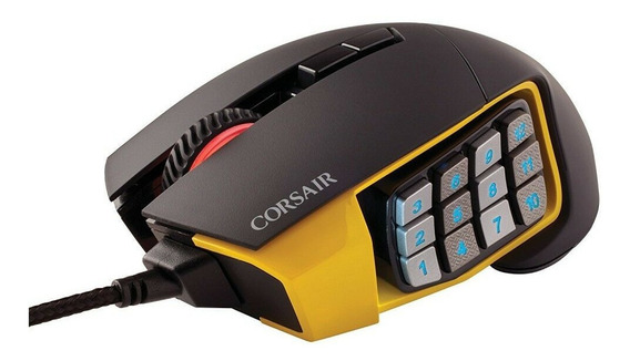 Mouse Corsair Gaming Scimitar Pro Rgb Preto (com Fio)