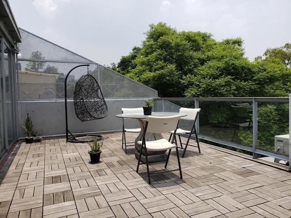 Precioso Ph Con Terrazas, Sin Muebles Cerca Liceo Y Parque