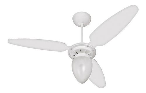 Ventilador de teto Ventisol Wind branco com 3 pás de plástico, 96cm de diâmetro 127V