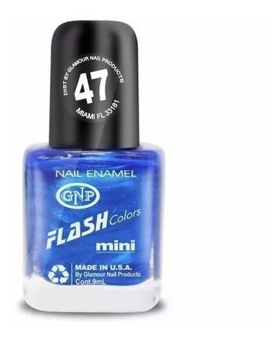 Imagen 1 de 4 de Esmalte Flash Colors De Gnp 9ml Nro.47 Azul Espectacular!