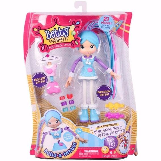Brinquedo Boneca Betty Spaghetty Betty Neve Azul