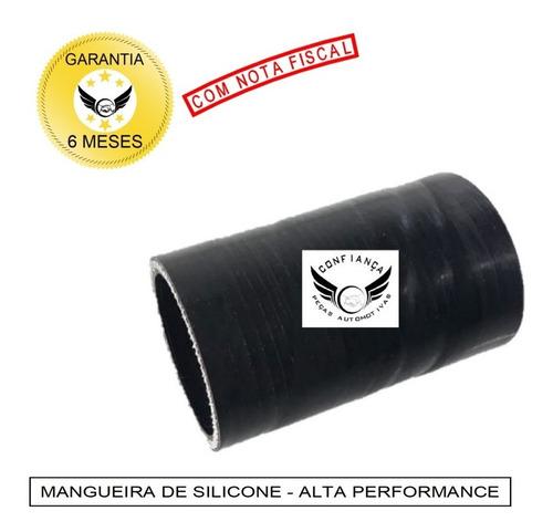 Mangueira Mangote Silicone 2 Pol X 100mm Pressurização Preto