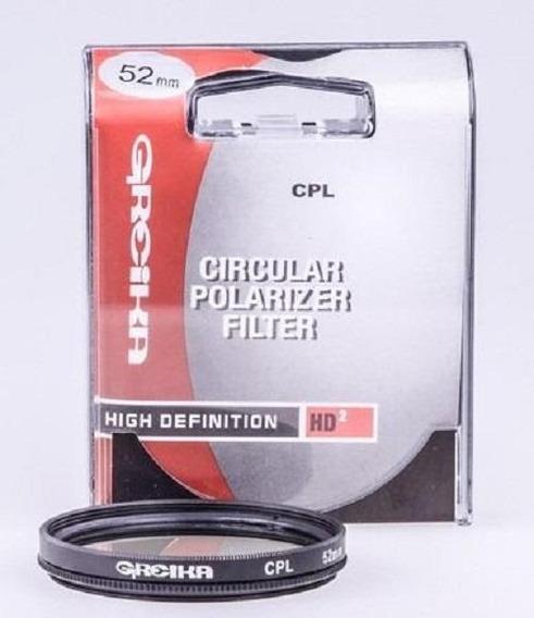 Filtro De Lente Polarizador 52mm Cpl Greika