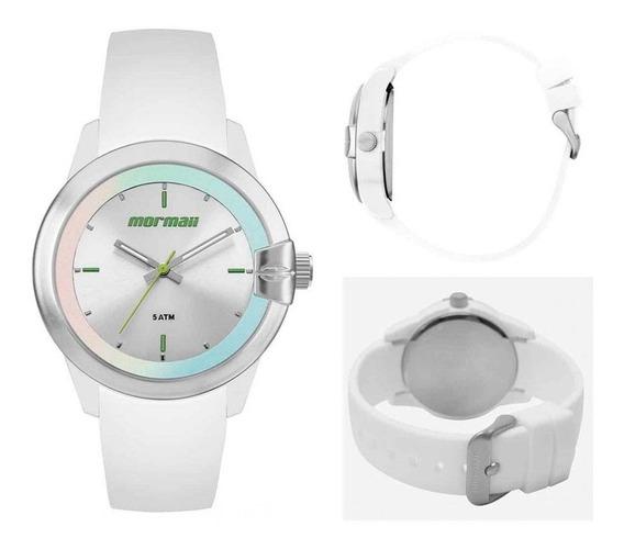 Relógio Feminino Maui Branco - Mo2035jj/8b Mormaii Com Nf Garantia