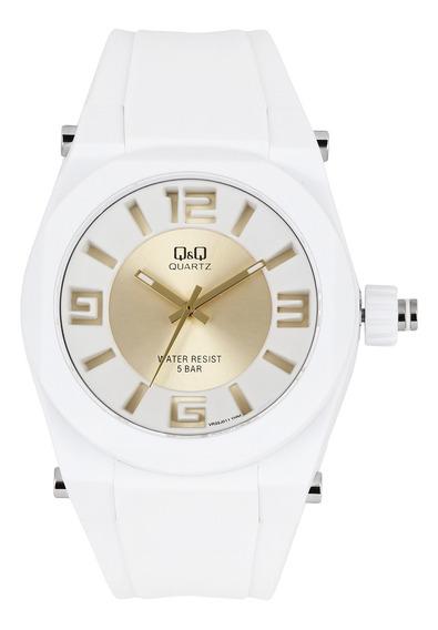 Relógio Q&q Unissex Branco Vr32j011y