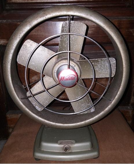 Ventilador Antigo Walita De Ferro Funcionando Turbina 220v