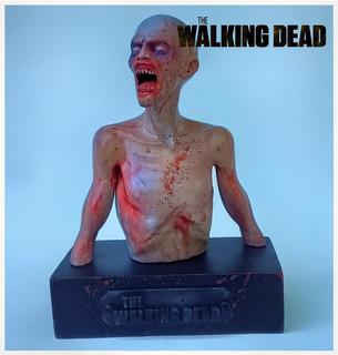 Zombie The Walking Dead Escultura Modelada E Impresa En 3d