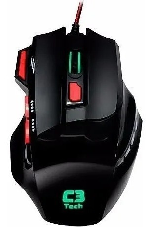 Mouse Gamer Optico 8 Botoes Mg7208 Bk Usb C3 Tech