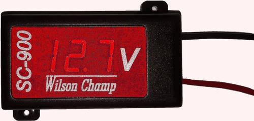 Voltimetro Rojo Autoalimentado Wilson Champ Sc-900