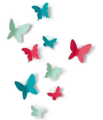 Mariposas Decorativas Color Set X 9 Decoracion Morph