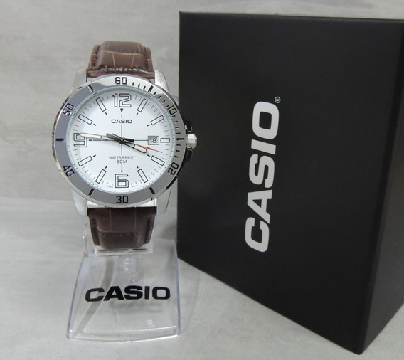 Relógio Masculino Casio Mtp-vd01l-7bvudf - Nota Fiscal E Garantia Oficial Casio