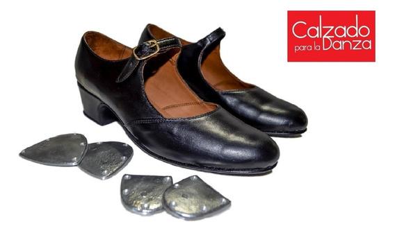 Zapatos De Tap Con Chapas Incluidas De Danza En Cuero