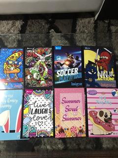 Promoción 3 Cuadernos Empastados Y Cosidos Diseños Varios.