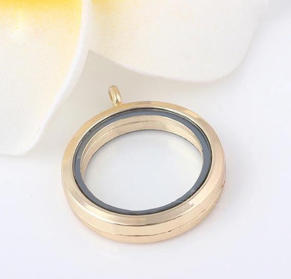 Colar Relicário B. Ouro Estilo Vivara Secrets 3,5cm Rosca