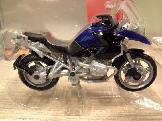 Miniatura Moto Bmw R 1200gs Azul Escuro Majorette 1:24 9,3cm