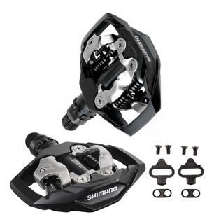 Pedal Clip Shimano Pd M530 Preto Plataforma C/tacos Par Mtb