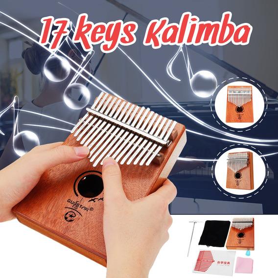 17 Keys Kalimba Mbira Thumb Piano Madeira Sólida Dedo Piano