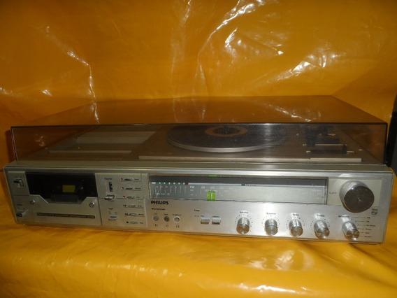 Som Philips Ah 928 - C/ Vinil+deck K7+radio - Mineirinho Cps