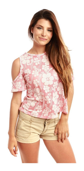Blusa Divina Stretch Super Sexy Damas Rose Fashion