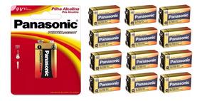 Bateria Panasonic 9v Alcalina Kit C/11 Unid. *envio Imediato