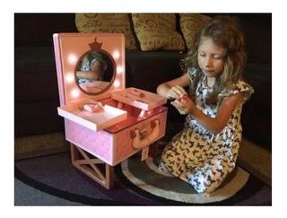 Tocador Con Espejo Disney Coleccionable Princesa Barbie Xtp