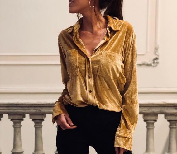 Camisa Uma (terciopelo)