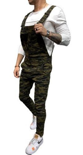Overol Jardinero Pantalon Jeans Hombre Chupin Elima Mod F09