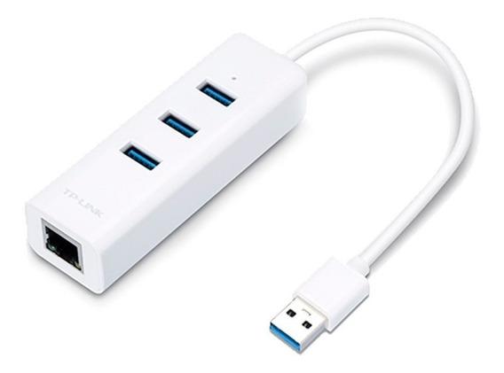 Adaptador Usb A Rj45 Ethernet Giga Tp-link Ue330 Hub 3 Usb
