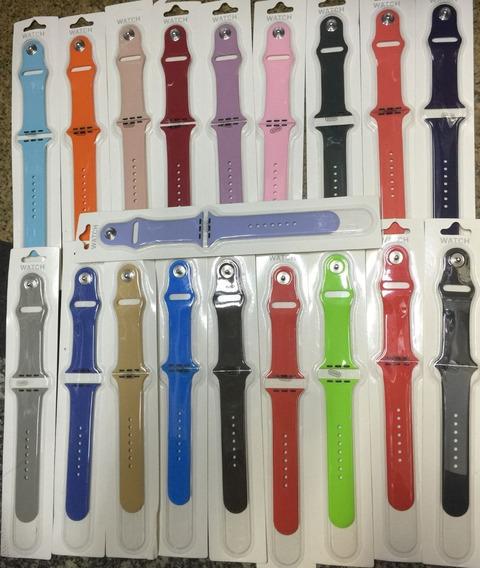Pulseira Iwatch Silicone Varias Cores 42-44mm S/m Resistente
