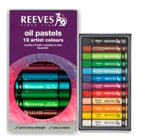 Pastel Oleoso Reeves - 12 Cores