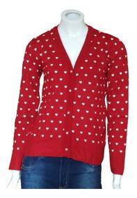 Blusa De Frio Cardigan Suéter Lã Trico Estampada # B11