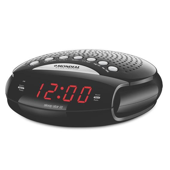 Rádio Relógio Com Despertador Am/fm Rr-03 Mondial Bivolt