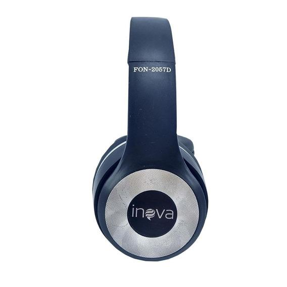 Promoção! Fone De Ouvido Inova Com Microfone Azul