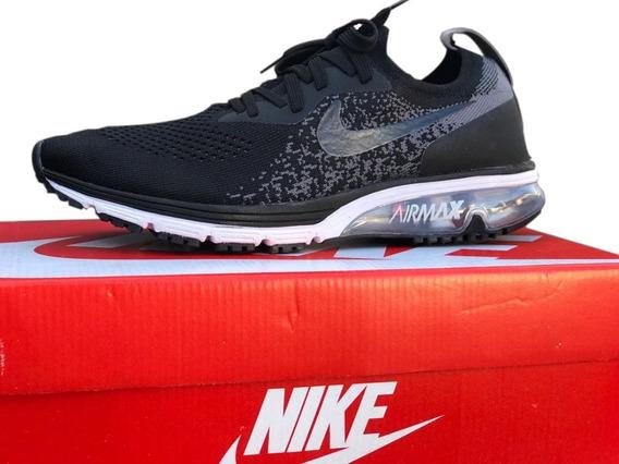 Tenis Masculino Nike Airmax Grátis Kit C/ 3 Pares De Meias