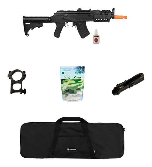 Rifle Airsoft Elétrico Cyma M4 Cqb Ris + Acessórios + Capa