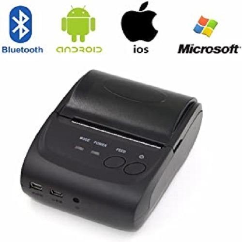 Mini Impresora Termica Portatil Con Bluetooth De 58mm
