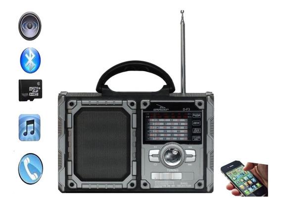 Rádio Portátil Bluethoot/am/fm/usb 8w Rms Df3-grasep