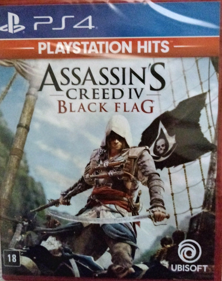 Ps4 Assasins Creed Iv Black Flag Mídia Física Lacrado Dispon