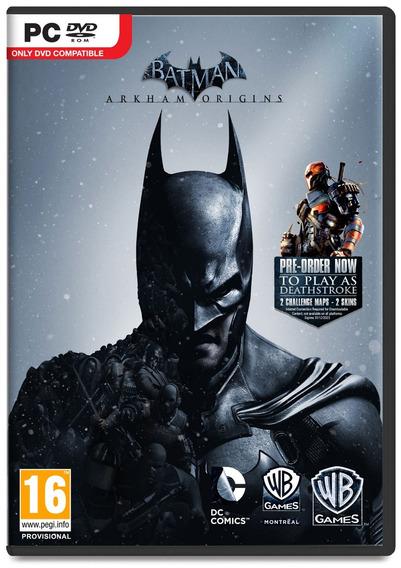 Batman Arkham Origins Pc Frete Gratis Envio No Mesmo Dia!