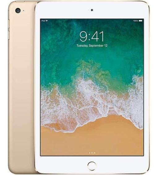 Apple iPad Mini 4 128gb Wifi Mk9q2ll/a Dourado Promoção Novo