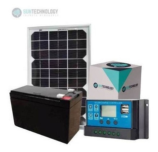 Kit Solar 20 W Regulador 10a Bateria 7a Ideal Camping Envios