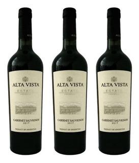 Vino Alta Vista Premium Cabernet Sauvignon 750 Ml Botella X3