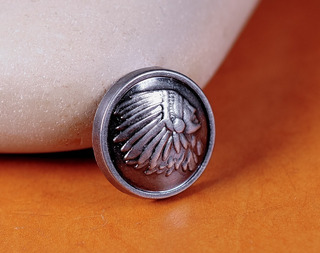 Emblema Indian Motorcycle Pin Chaleco Chamarra Indian 17mm