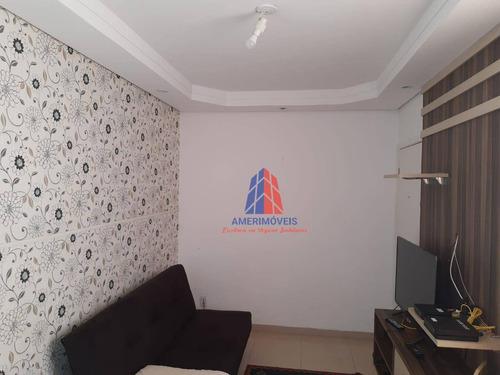 Apartamento Com 2 Dormitórios À Venda, 47 M² Por R$ 200 - Residencial Parque Asteca - Loteamento Industrial Machadinho - Americana/sp - Ap1093
