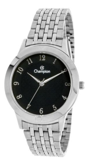 Relógio Feminino Champion Prata E Preto Ch22975t Oferta